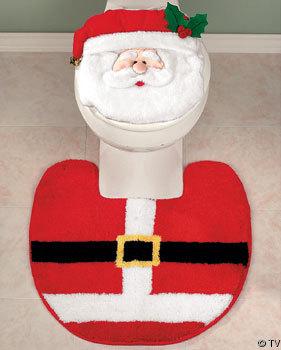 Ba os estilos decoraci n de ba os por navidad - Decoracion navidena para banos ...